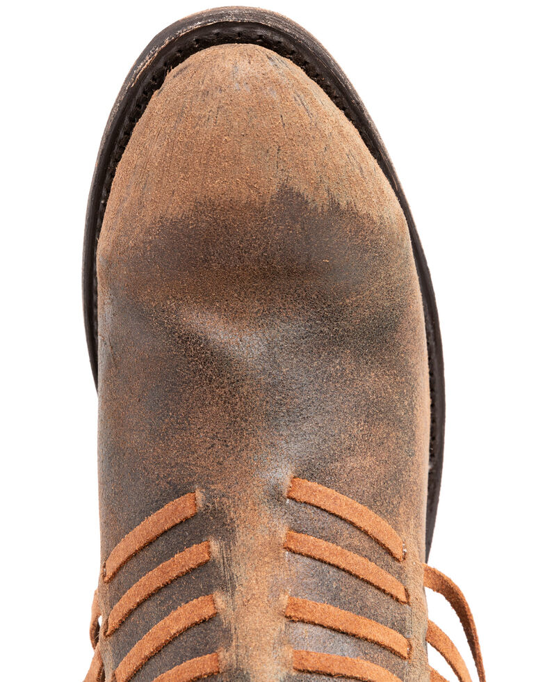 Corral Women's Brown Side Fringe Booties - Medium Toe , Brown, hi-res