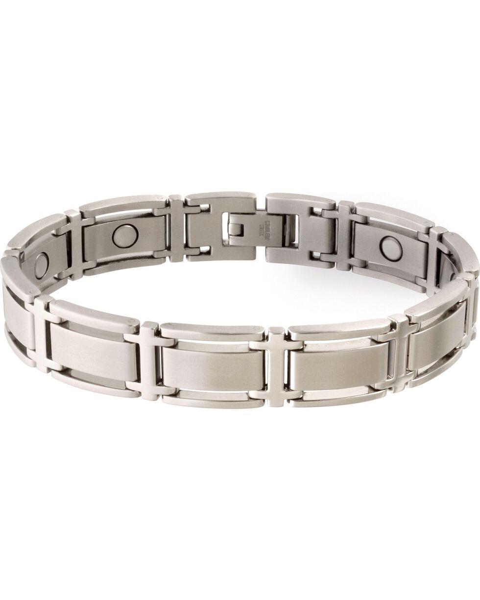 Sabona Men's Executive Symmetry Stainless Steel Magnetic Bracelet, Steel, hi-res