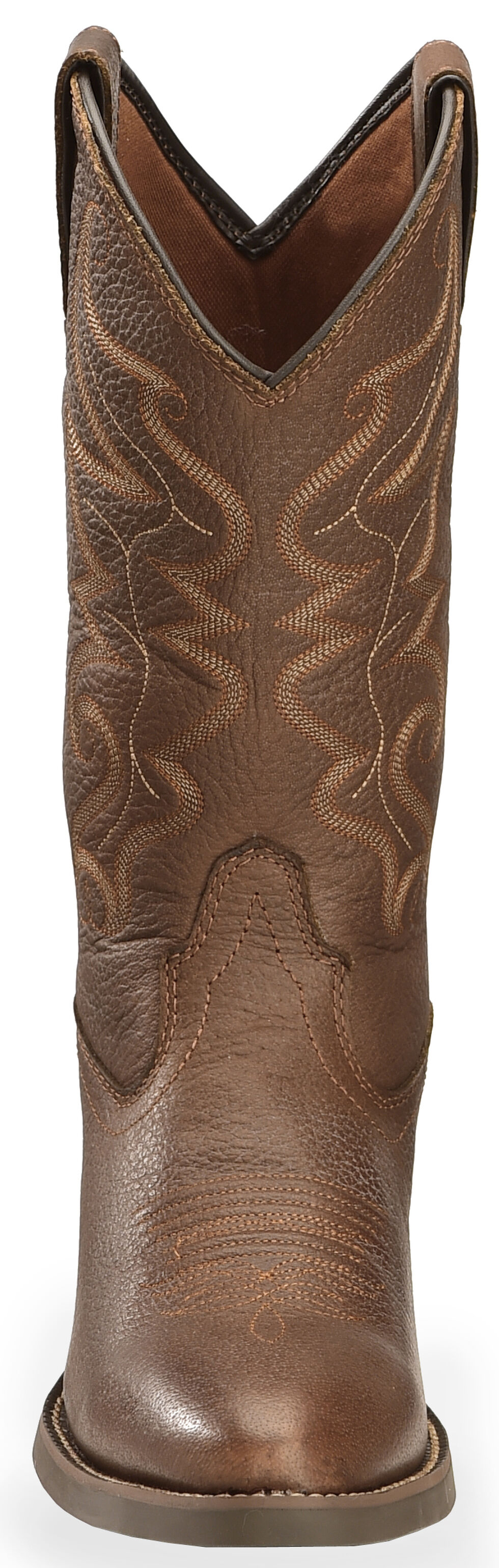 Justin Men's All Star Chocolate Western Boots - Round Toe , Chocolate, hi-res