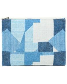 Prime Time Women's Blue Patchwork Pouch Bag, Blue, hi-res
