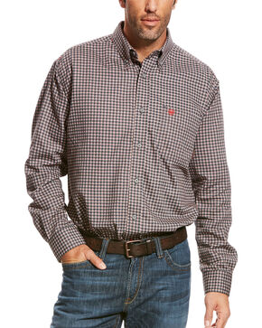 Ariat Men's Grey FR Optimus Long Sleeve Work Shirt , Grey, hi-res