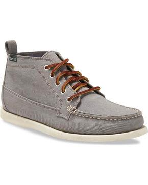 Eastland Men's Grey Seneca Canvas Chukka Boots - Round Toe , Grey, hi-res