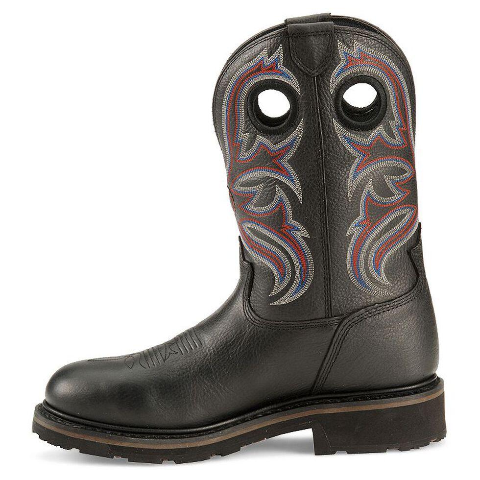 Tony Lama 3R Waterproof Pull-On Work Boots - Steel Toe, Black, hi-res