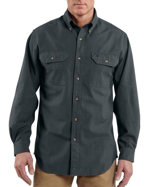 Carhartt Fort Long Sleeve Shirt, Black, hi-res