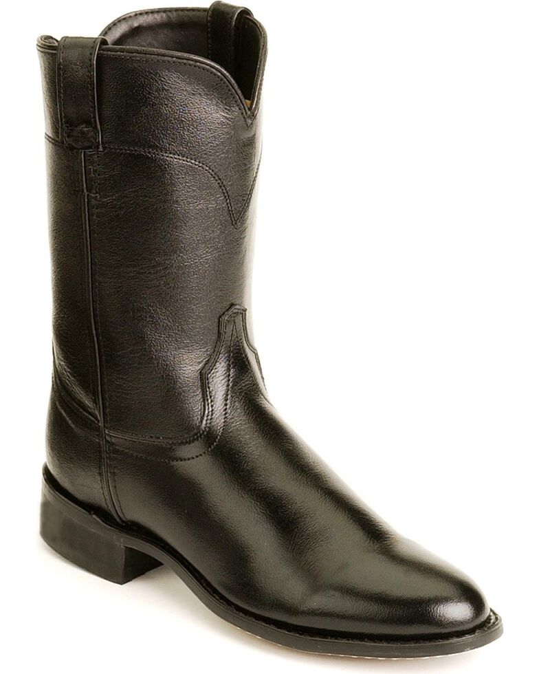0bae6bcb6146 Old West Leather Roper Cowboy Boots