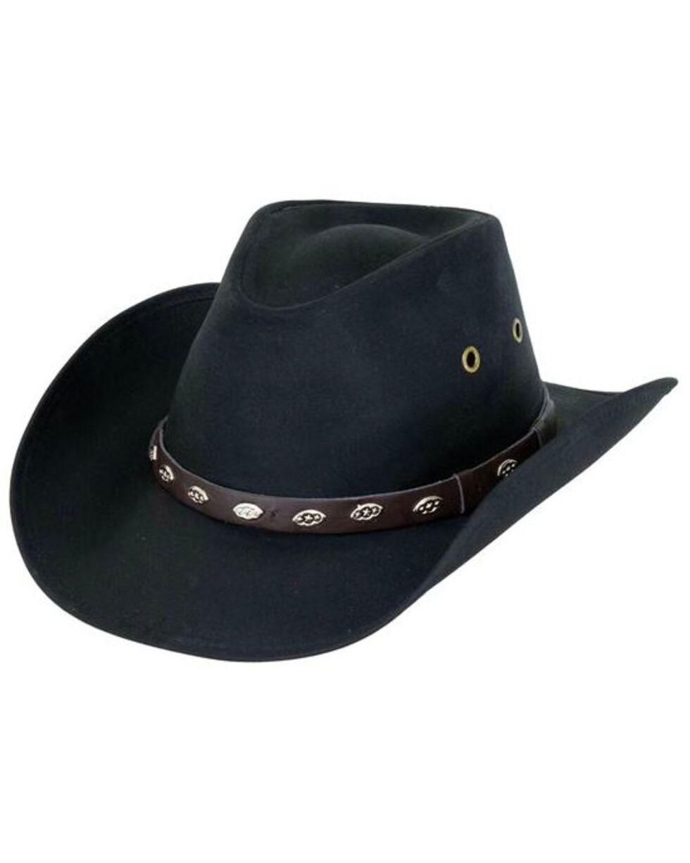 Outback Trading Co. Oilskin Badlands Hat, Black, hi-res
