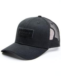 Hawx Men's Black Chenille Logo Patch Mesh-Back Ball Cap, Black, hi-res