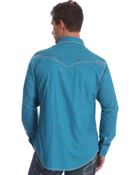 Wrangler Rock 47 Men's Teal Print Western Shirt , Teal, hi-res