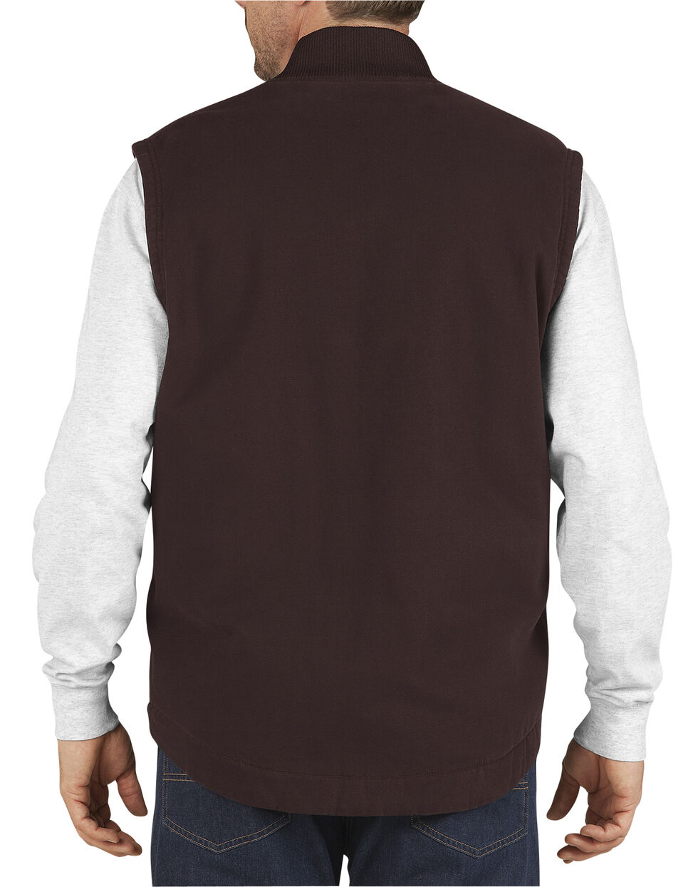 Dickies Men's Quilt Lined Sanded Duck Vest - 3XL, , hi-res