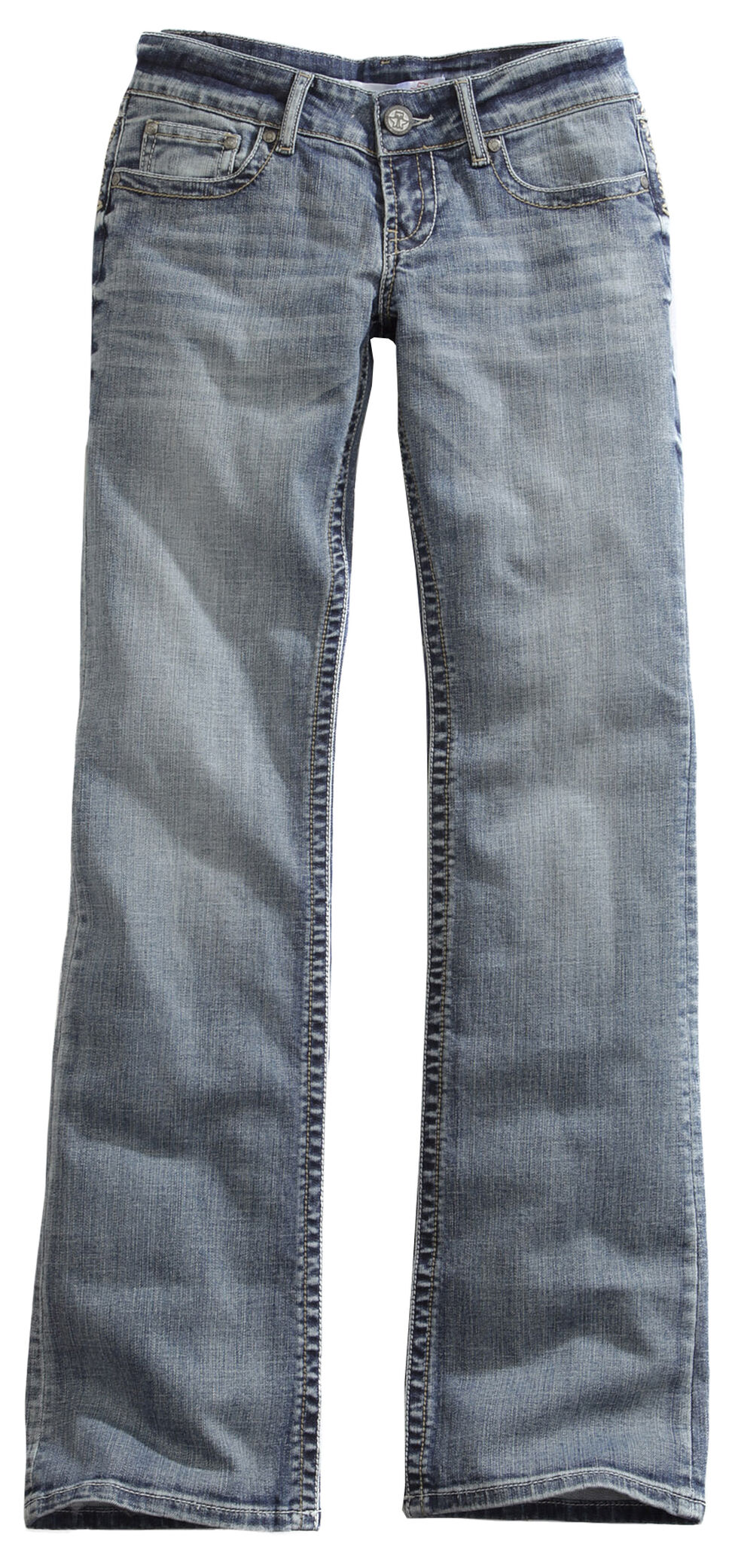 Tin Haul Women's Bootcut Rosie To Go The Go To Zig Zag Jeans, Denim, hi-res
