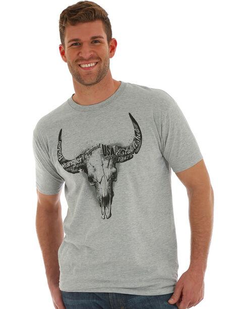 Wrangler Men's Charcoal Steerhead T-Shirt , Charcoal, hi-res