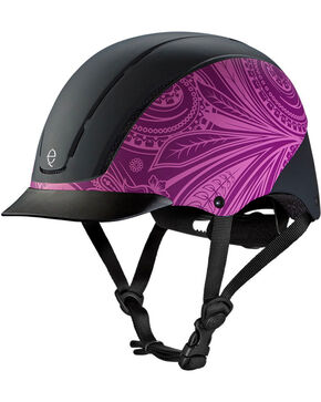 Troxel Purple Boho Spirit Riding Helmet , Purple, hi-res
