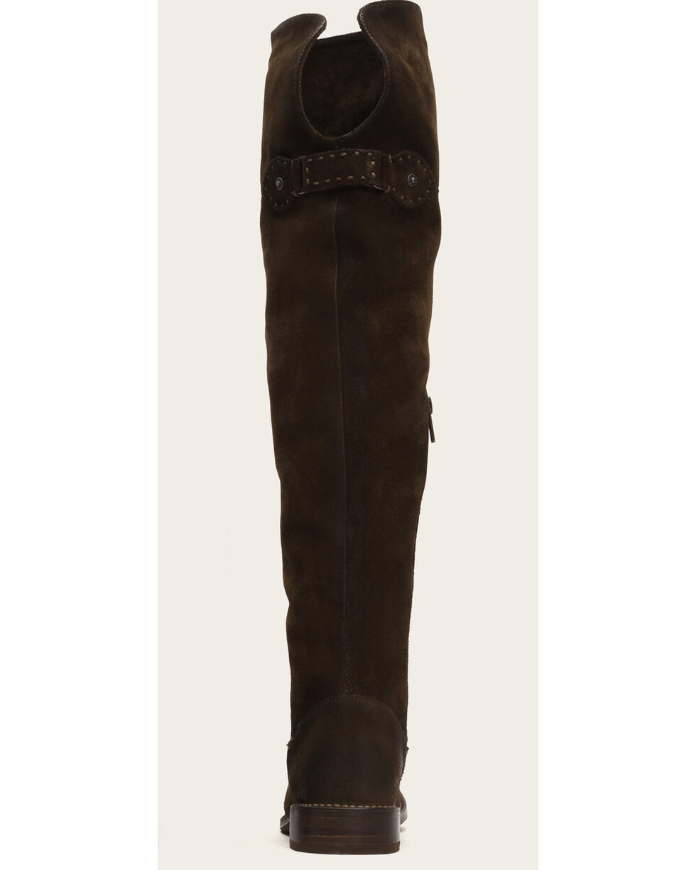 Frye Women's Fatigue Suede Shirley OTK Boots - Round Toe , Brown, hi-res