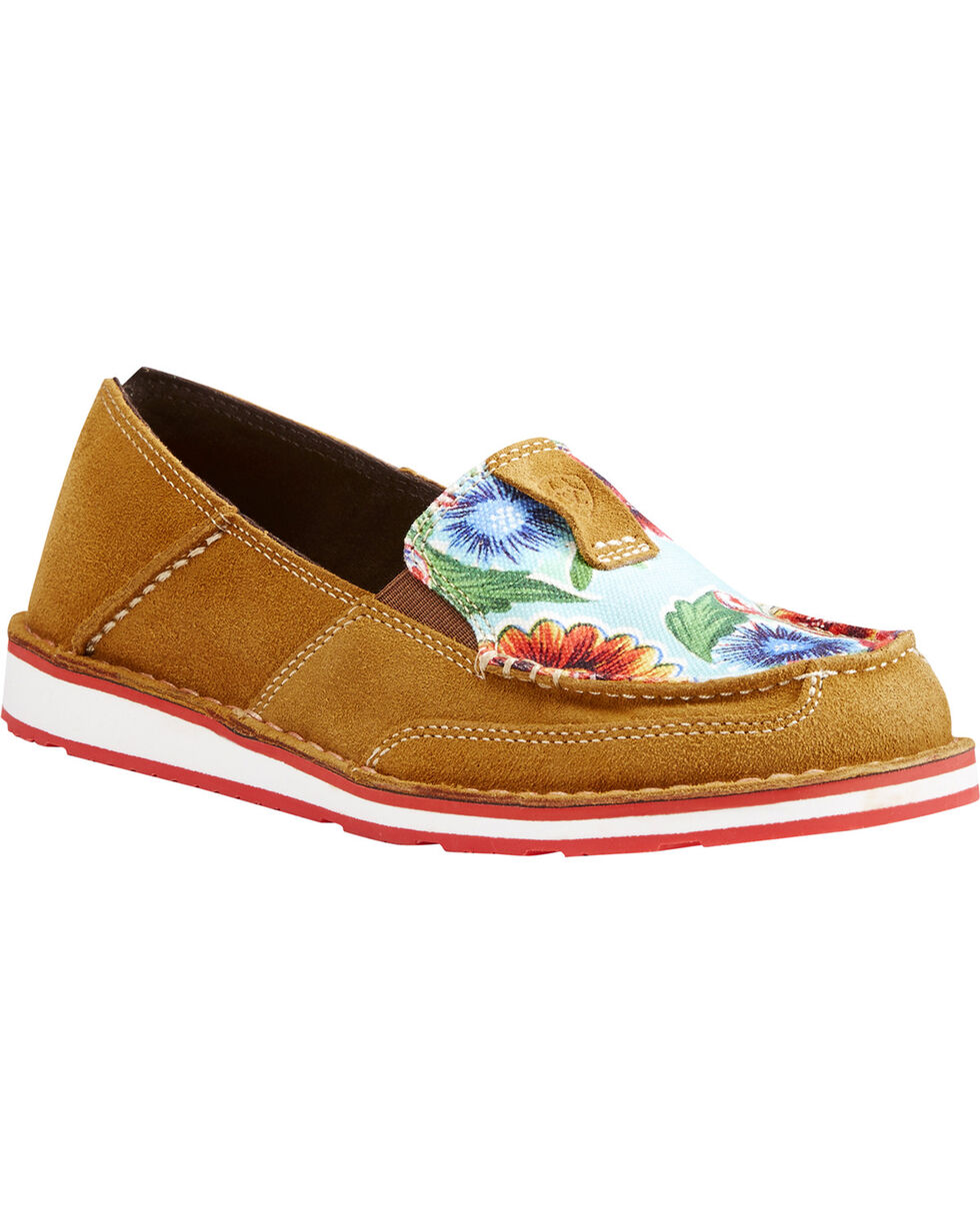 Ariat Women's Floral Rugged West Slip On Cruiser Shoes , Multi, hi-res