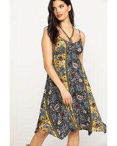 5be9dac5e20 Shyanne Womens Mustard Floral Print Midi Dress