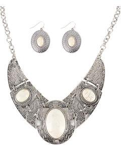 Shyanne Women's Aztec Inspired Jewelry Set, Cream, hi-res
