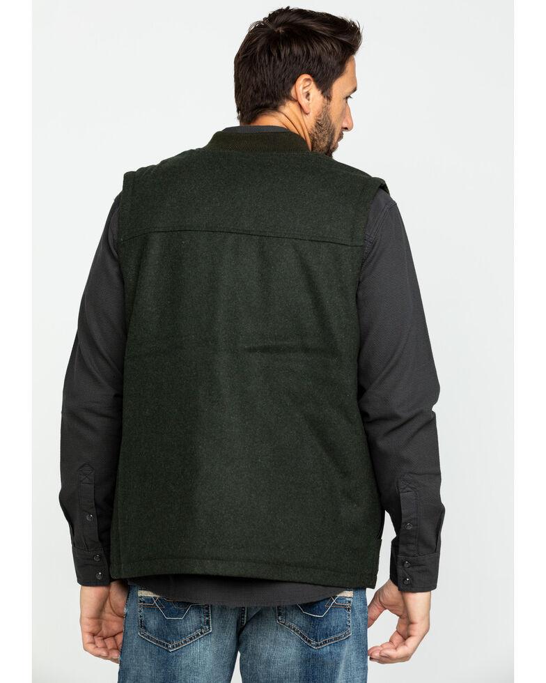 Cody James Men's Grover Wool Blend Leather Pocket Vest , Olive, hi-res