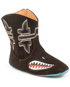 Tin haul Infant Boys' Shark Boots, Brown, hi-res
