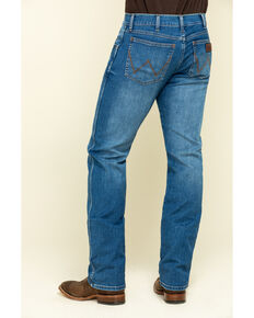 Wrangler Retro Men's San Benito Stretch Slim Straight Jeans - Long , Blue, hi-res