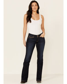 Ariat Women's Arrow Fit Jocelyn Bootcut Jeans, Blue, hi-res