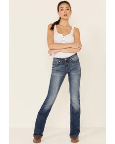 Shyanne Women's Medium Wash Bling Bootcut Jeans , Blue, hi-res