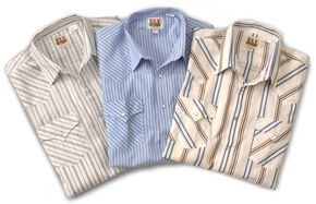 Ely Cattleman Men's Assorted Plaid or Stripe Short Sleeve Western Shirt, Stripe, hi-res