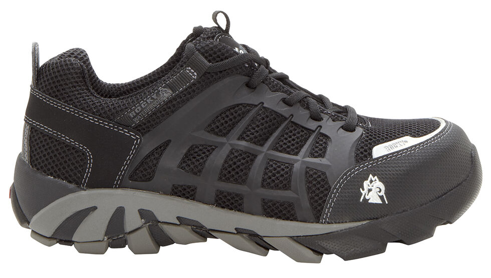 Rocky TrailBlade Waterproof Athletic Work Shoes - Composite Toe, Black, hi-res