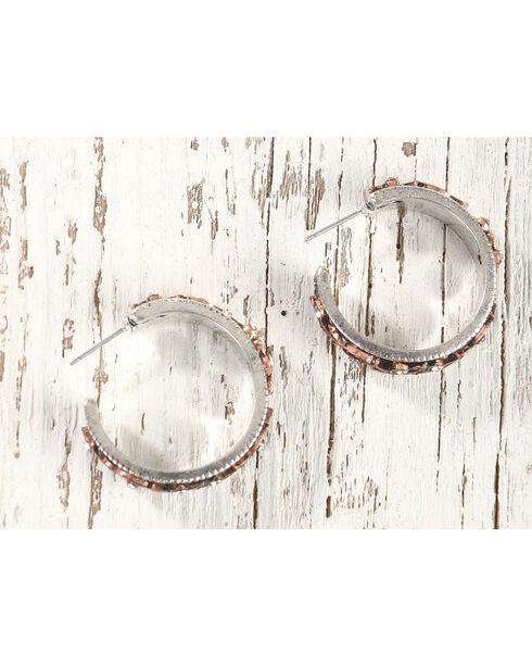 Shyanne Women's Filigree Hoop Earrings, Rust Copper, hi-res