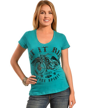 Liberty Wear Women's Let It Ride Tee, Jade, hi-res