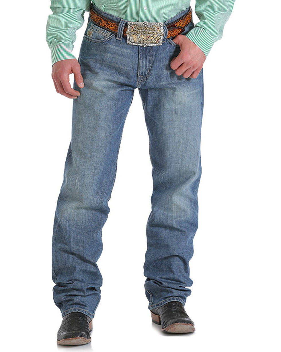 Cinch Men's Ian Mid Rise Relaxed Fit Jeans - Boot Cut, Indigo, hi-res