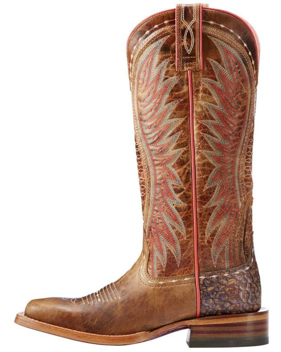 Ariat Women's Wheat Vaquera Dusted Boots - Square Toe , Wheat, hi-res