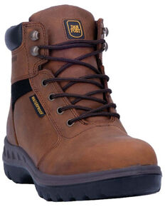 Dan Post Men's Burgess Waterproof Work Boots - Soft Toe, Tan, hi-res