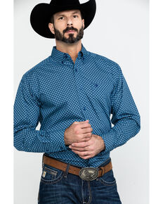Ariat Men's Akimoto Geo Print Long Sleeve Western Shirt - Tall , Multi, hi-res