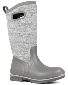 Bogs Women's Crandal Tall Winter Boots - Round Toe, Grey, hi-res
