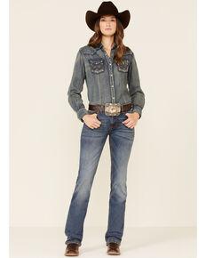 Wrangler Retro Women's Medium Wash Mae Bootcut Jeans , Blue, hi-res
