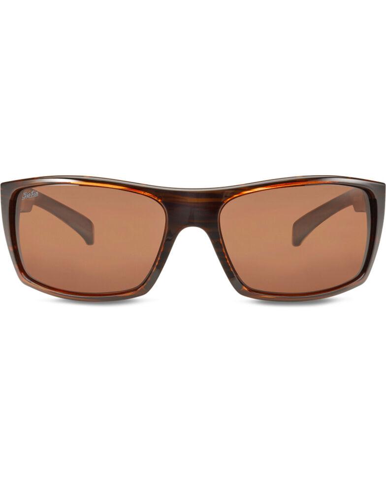 c75086d143c Hobie Men s Satin Brown Wood Grain Baja Polarized Sunglasses