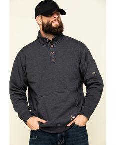 Ariat Men's Charcoal Heather Rebar Overtime Fleece Work Pullover Sweatshirt - Big , Charcoal, hi-res