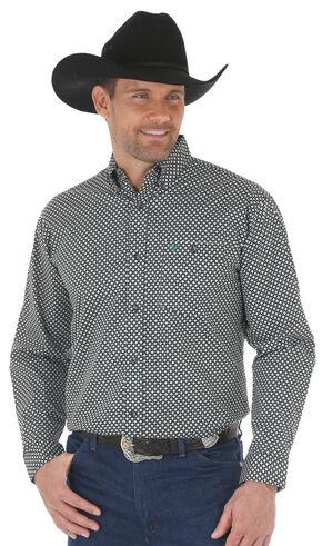 Wrangler 20X Men's Green/Black Advanced Comfort Competition Shirt - Big & Tall, Green, hi-res