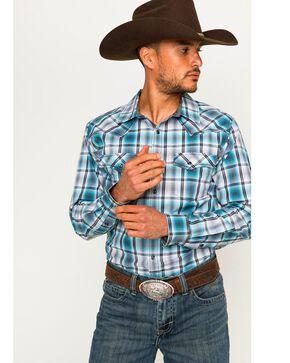 Cody James Men's Vendetta Plaid Long Sleeve Shirt, Blue, hi-res