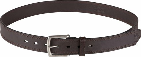 5.11 Tactical Arc Leather Belt, Brown, hi-res