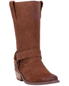 Dingo Women's Whiskey Harness Moto Boots - Snip Toe, Wheat, hi-res