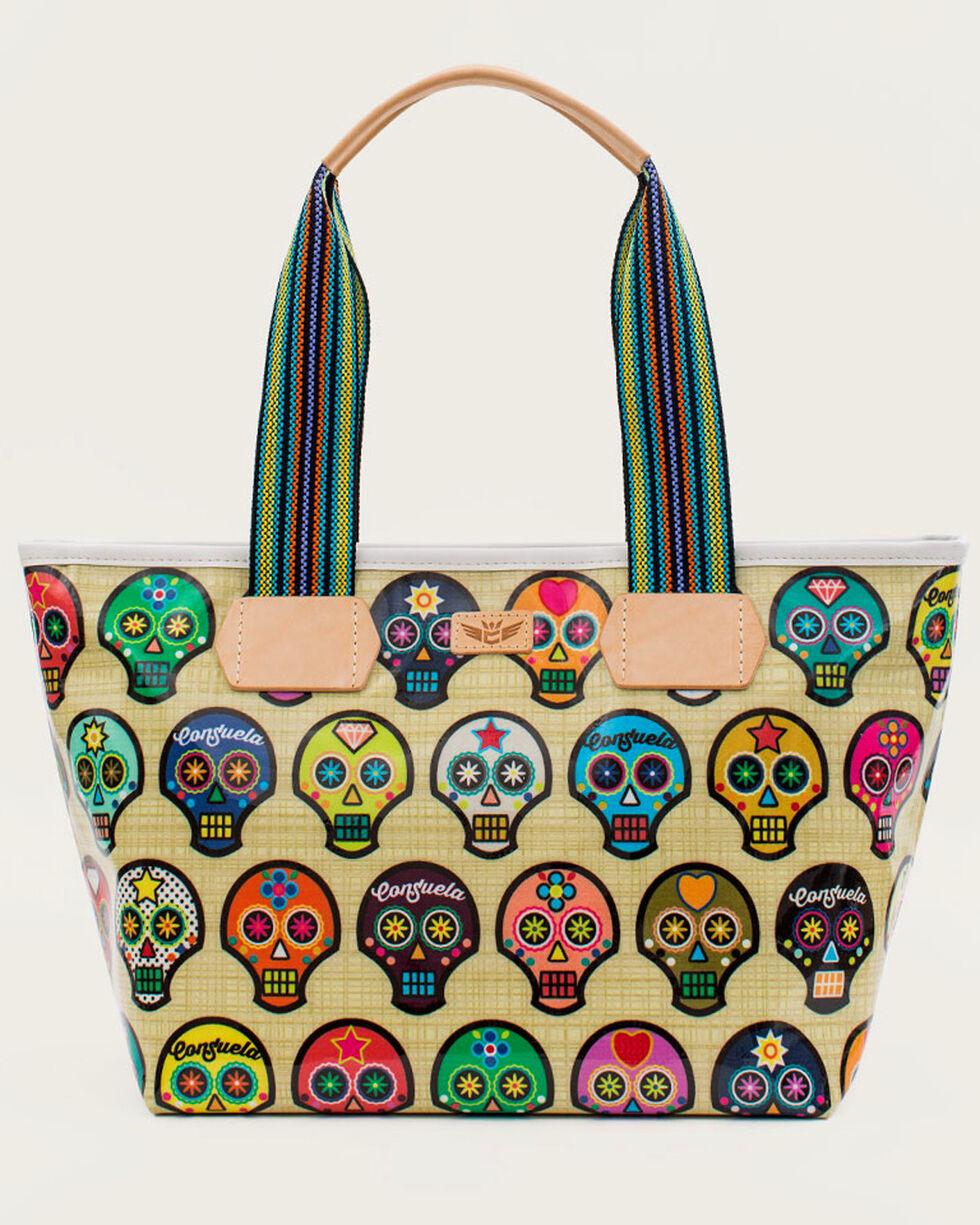 Consuela Women's Legacy Sugar Skulls Shopper Tote, Beige/khaki, hi-res