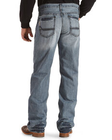 Cinch Men's Grant Light Stonewash Relaxed Bootcut Jeans, Indigo, hi-res