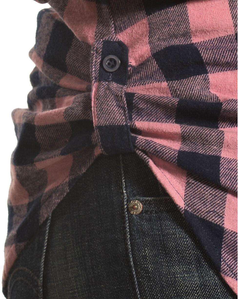 Derek Heart Women's Fergies Plaid Flannel Shirt , Pink/black, hi-res