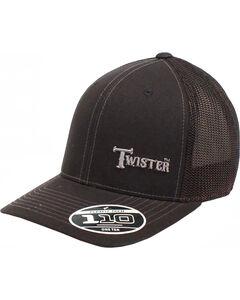 Twister Men's Black Offset Text Baseball Cap , Black, hi-res