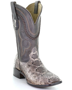 Corral Men's Exotic Rattlesnake Western Boots - Square Toe, Natural, hi-res