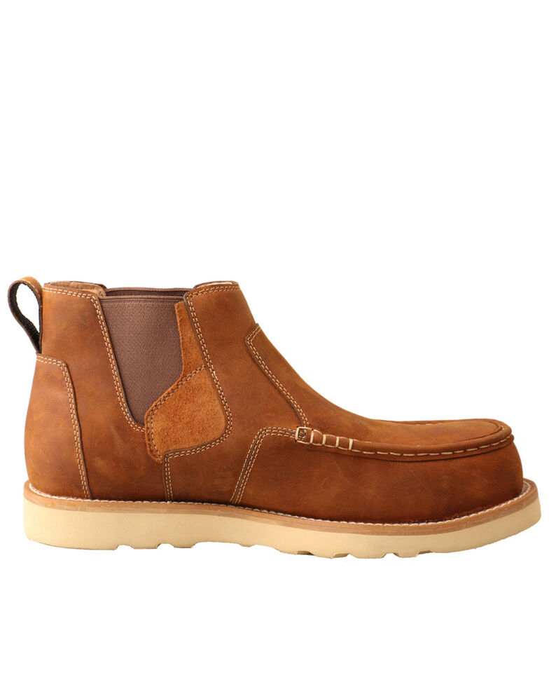 Twisted X Men's Chelsea Wedge Work Boots - Composite Toe, Brown, hi-res