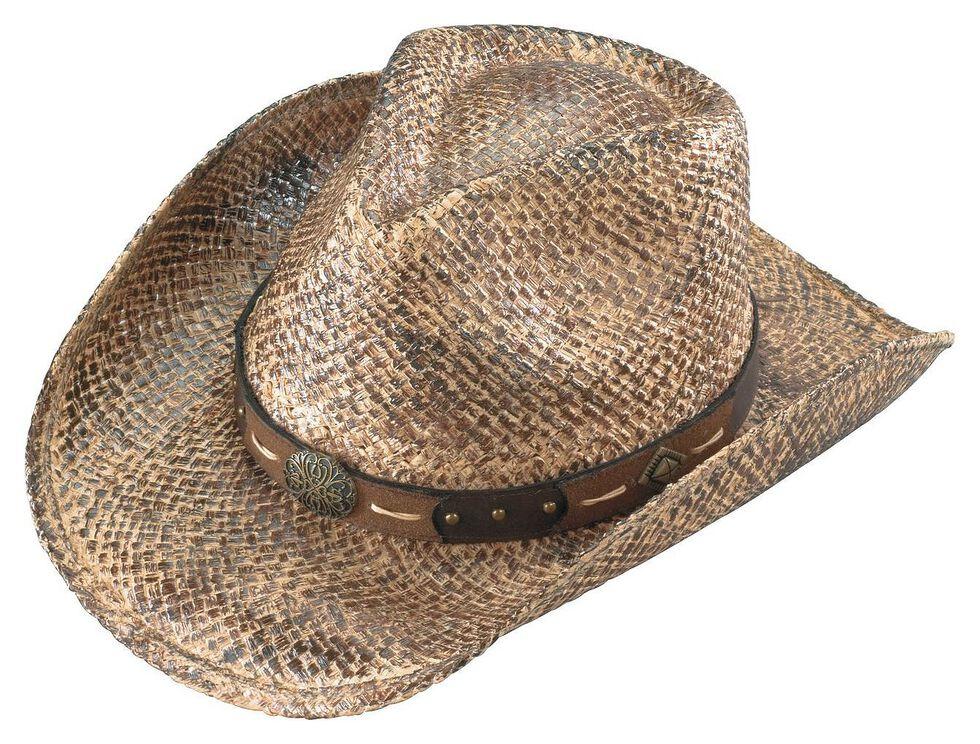 Henschel Walker Hand Stained Raffia Straw Cowboy Hat, Straw, hi-res