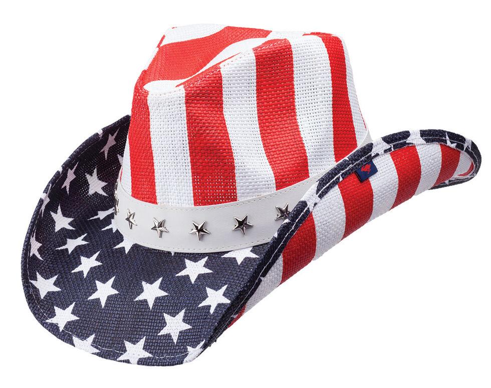 Peter Grimm Pure Justice Straw Cowboy Hat, Blue, hi-res