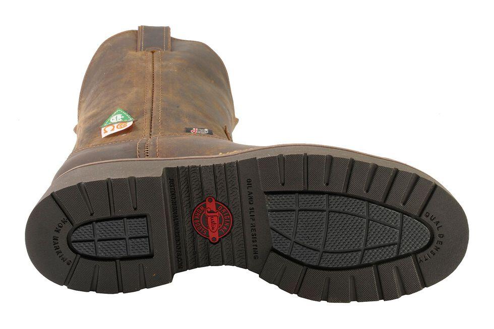 "Justin Men's J-Max 8"" Balusters Bay Gaucho Puncture Resistant Work Boots - Steel Toe, Tan, hi-res"